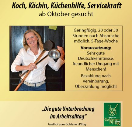 Koch, Köchin gesucht