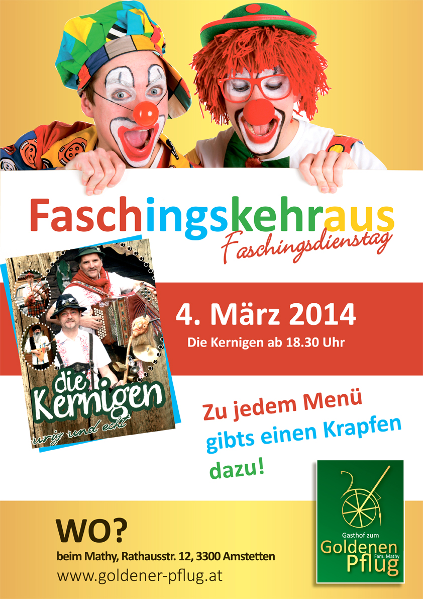 Faschingskehraus - Plakat